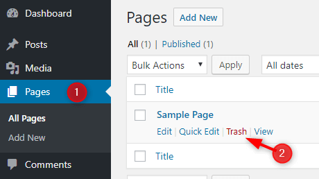 delete-default-wordpress-sample-page