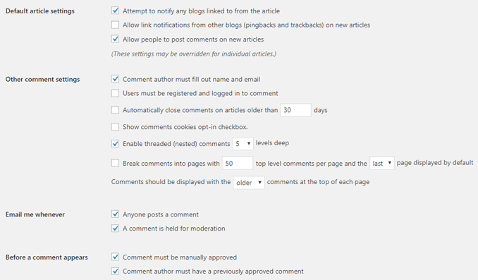 recommended-wordpress-discussion-settings