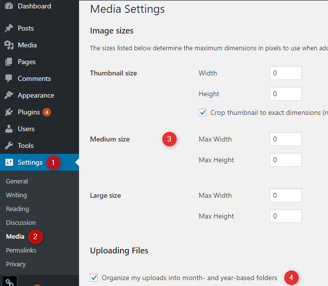 setup-wordpress-media-settings
